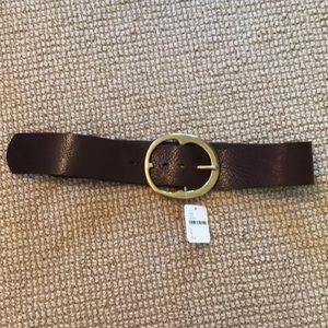 Free people brown leather belt